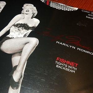 Marilyn Monroe Fishnet Tights w/ Red Back seam
